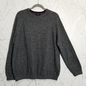 Ted Baker London Heathered Gray Crewneck Sweater